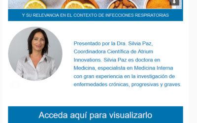 Invitación Webinar: Vitaminas y Minerales en Sist. inmune