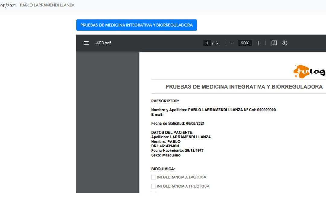 Mejora Volantes (documentos personalizados a paciente)