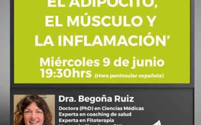 🌿Inscríbete en el webinar gratuito: 'EL ADIPOCITO, EL MÚSCULO Y LA INFLAMACION'!🙊😍