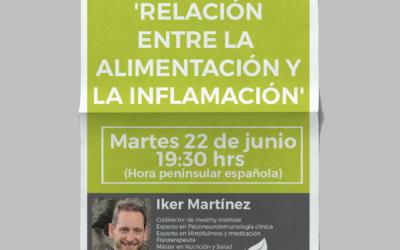 🌿Faltan 4 días para el Webinar gratuito del 22 de Junio: 'RELACIÓN ENTRE ALIMENTACIÓN Y LA INFLAMACION'!🙊😍