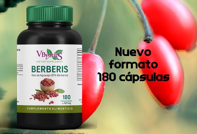 Nuevo Berberis 180 cápsulas. Más eficacia a menor dosis